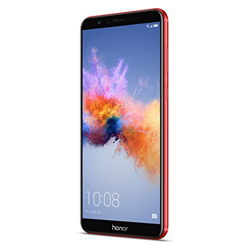 Honor 7X Smartphone (15,06 cm (5,93 Zoll) FullView FHD+ Bildschirm, 64 GB Speicher, Android 7.0) Phoenix Red Limited Edition