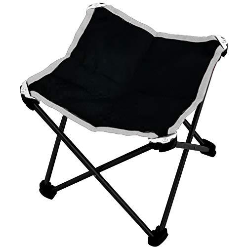 Beetest Chaise Pliante Extérieure, en Plein air Portable Ultra-léger Pliant en Alliage D'aluminium Plage Sac À Dos Chaise Tabouret pour Pêche Pique-Nique Camping Randonnée Croquis Noir