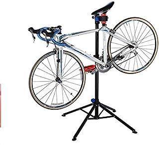 soporte de bicicleta de altura ajustable lateral de la bicicleta de pie Soporte de estacionamiento de bicicleta de carretera insertado Soporte de suelo de reparaci/ón ATpart Soporte de bicicleta