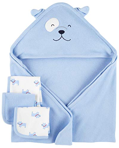 Child of Mine by Carter's Boy Hooded Towel and Wash Clothes Set