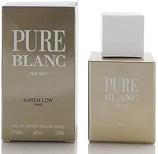 Karen Low Pure Blanc 3.4 OZ EDT Spray Mens New