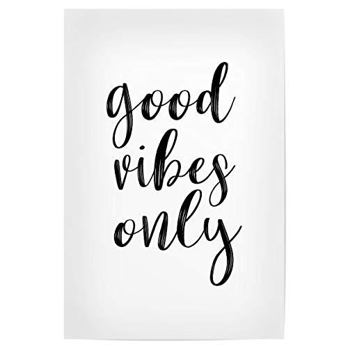 artboxONE Poster 30x20 cm Typografie Good Vibes 2