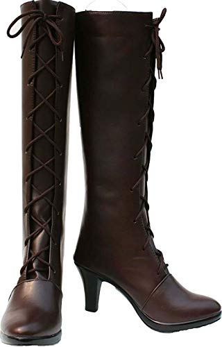MINGCHUAN Cosplay Boots Shoes for Black Butler Ciel Girl Phantomhive