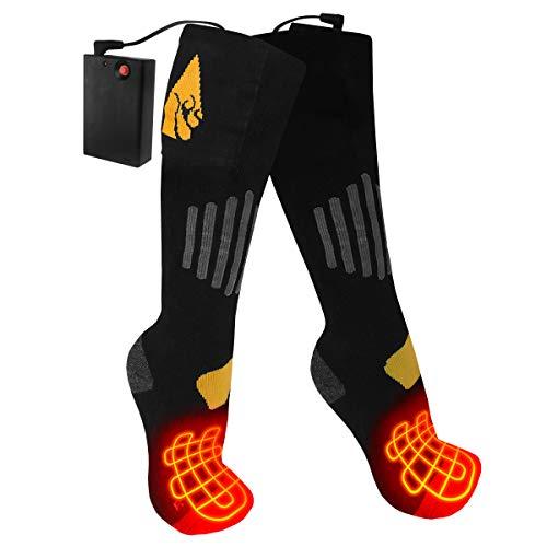 ActionHeat AA Battery Heated Socks - Unisex Cotton Warm Socks w/Built-in Heating Panels, Heat Reflective Technology, 4.5V Heating Socks