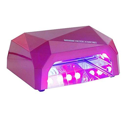 Eleacc 36Watt UV Gel Nail Lampe Gel Härtung Nageltrockner, Trockenzeiten ab 120sek. +, 4x 9W Leuchtmittel