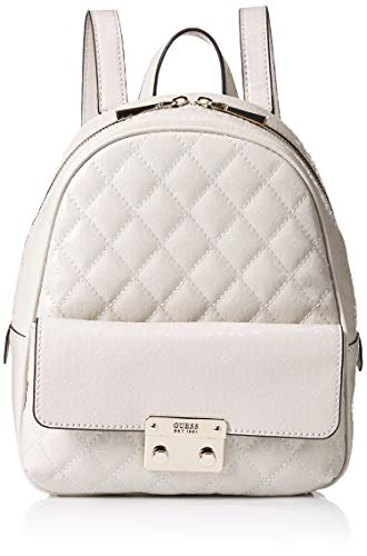 Guess Damen Tiggy Bowery Backpack Rucksack, Elfenbein (Stone), 11.5x27.5x23.5 centimeters