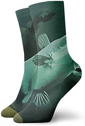 Unisex Erwachsene Teens Green Catfish In River Crew Socken Neuheit Kleid Baumwolle Dicke Warme Socken für Die Arbeit Reisen Laufen Wandern im Freien