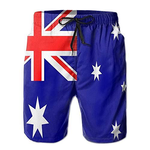 tyui7 Australien Flagge Männern Strand Shorts Sommer Sea Board Badehose, Größe M