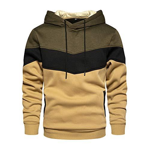 Yowablo Herren-Kapuzen-Sweatshirt mit Kapuze, Pullover, Kleidung, Trainingsanzug, langärmlig, Winter, lässig, Oberteil, Bluse X-Small / Small 1 Grün.