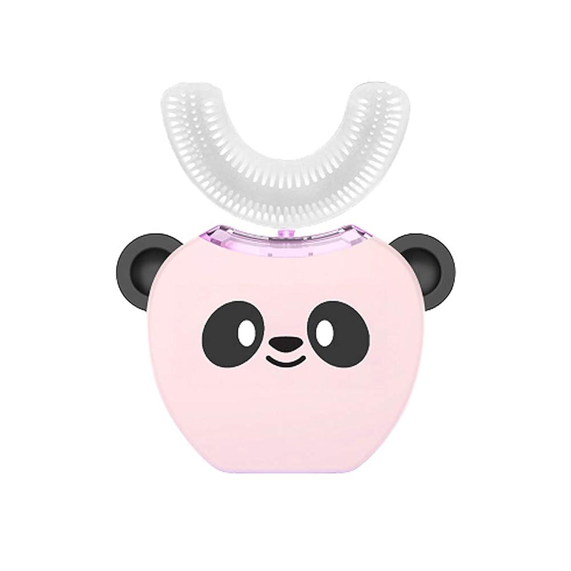 打倒ドアミラープログレッシブ子供の歯ブラシ、360度ディープクリーニングスマート電動歯ブラシ、U字型歯ブラシの頭、超音波ブラッシング、防水IPX 7