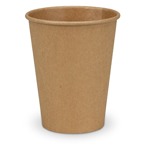 pack2go 1000 Kaffeebecher - 12oz, 300ml, Recycling Kraftpapier, Coffee to go Becher braun, Pappbecher, Becher to Go, Einwegbecher, Kaffeebecher