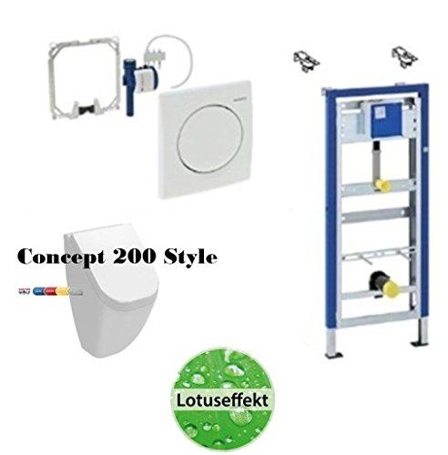 Geberit DuofixBasic Urinal Universal, Komplett-Set, Concept Style Urinal Lotusclean