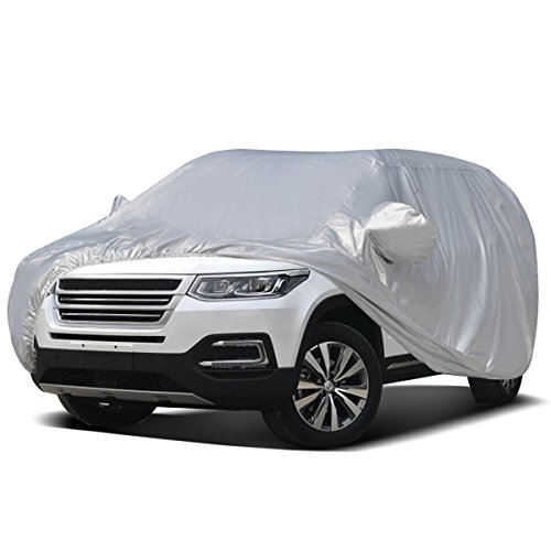 Audew Car Cover SUV Cover Car Snow Cover UV Protection/Waterproof/Windproof/Dustproof/Scratch Resistant Outdoor Full Car Covers for SUV Car XXL (201''-212'')