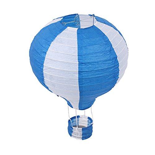 Kicode Heißluftballon 12 Zoll Chinesische Papierlaterne Set Faltbar Weihnachtsfest-Dekor Partyzubehör Alles Gute zum Geburtstag Hochzeit