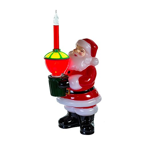 Kurt Adler Jolly Santa Bubble Light Tabletop Decoration, 7 1/4-Inch