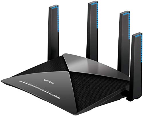 NETGEAR Nighthawk X10 Smart WiFi Router (R9000) - AD7200 Wireless Speed (up to 7200 Mbps) for 60Ghz WiFi Devices | Up to 2500 sq ft Coverage | 6 x 1G Ethernet, 1 x 10G SFP+, and 2 USB ports