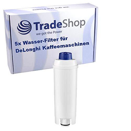 Trade-Shop 5X Wasser-Filter für DeLonghi ECAM 45.766.B 45.766.W 21.110.B 21.110.W 22.110.B 21.116.B 21.116.SB 21.117.B 21.117.SB 22.110.SB/Filterpatrone