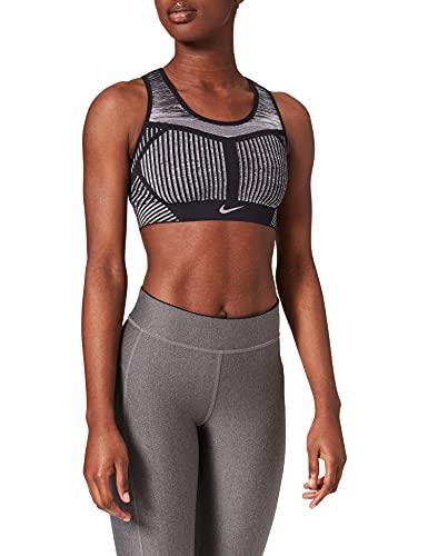 Nike Fe/Nom Flyknit Bra, Reggiseno Sportivo Womens, Black/White, m