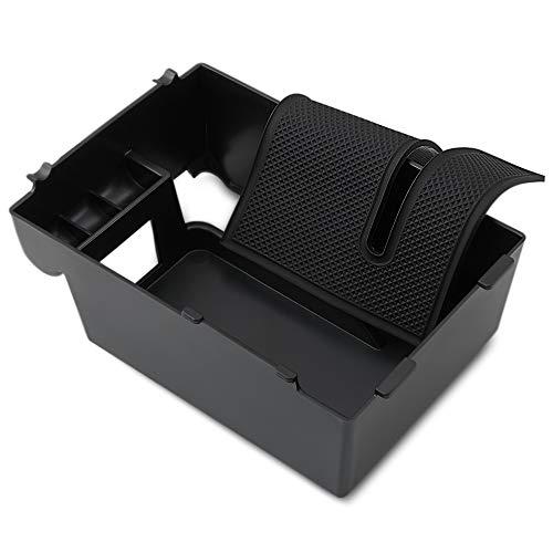 Whyzj Car Apoyabrazos Caja de Almacenamiento Central de la Tapa de la Consola Bandejas/Ajuste for Subaru XV 2018 2019 Accesorios