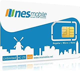 Israel SIM Card - Regular Size - Available From NES Mobile ★ Cellcom Cellular Network Coverage ★ You Must Signup with NesMobile Online in Order to Activate the Israel SIM Card - SIM card has no value unless you sign up for a plan with NesMobile ★ Daily & Monthly UNLIMITED CALLS & DATA Plans Available From NesMobile ★ Largest Cell Network Coverage in Israel