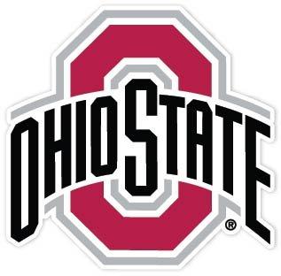 15' Ohio State Buckeyes 2 vinyl sticker decal for cornhole