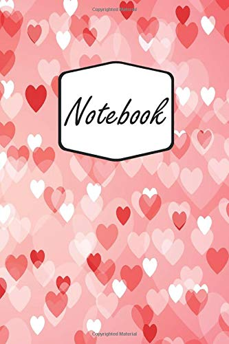 Notebook: Hearts, Love And Kisses | Valentins Day | For Writing And Taking Notes (6x9 inch | lined paper | Soft Cover | 100 Pages)