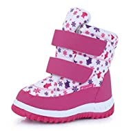CIOR Winter Snow Boots for Boy and Girl Outdoor Waterproof with Fur Lined(Toddler/Little Kids)