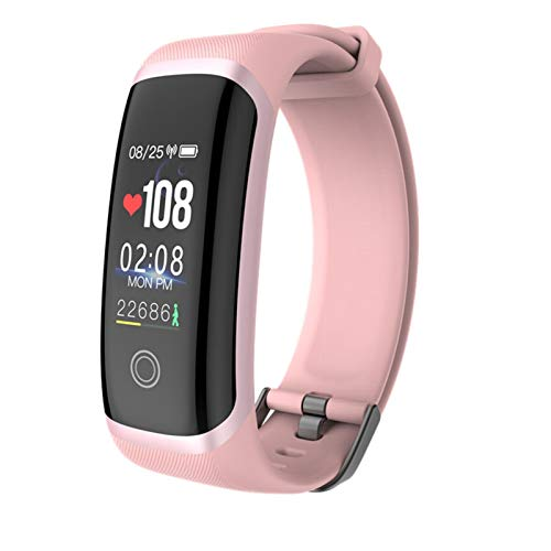 FFF8 Pulsera Inteligente M4 Pantalla De Color Sport Pedómetro Reloj Smartband Fitness Traker Bluetooth Impermeable Banda Inteligente (Color : Pink)