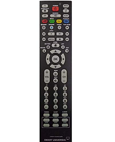 VNQ Universal Tv Remote Works with All LCD led Smart hd TV with Netflix, YouTube and Much More