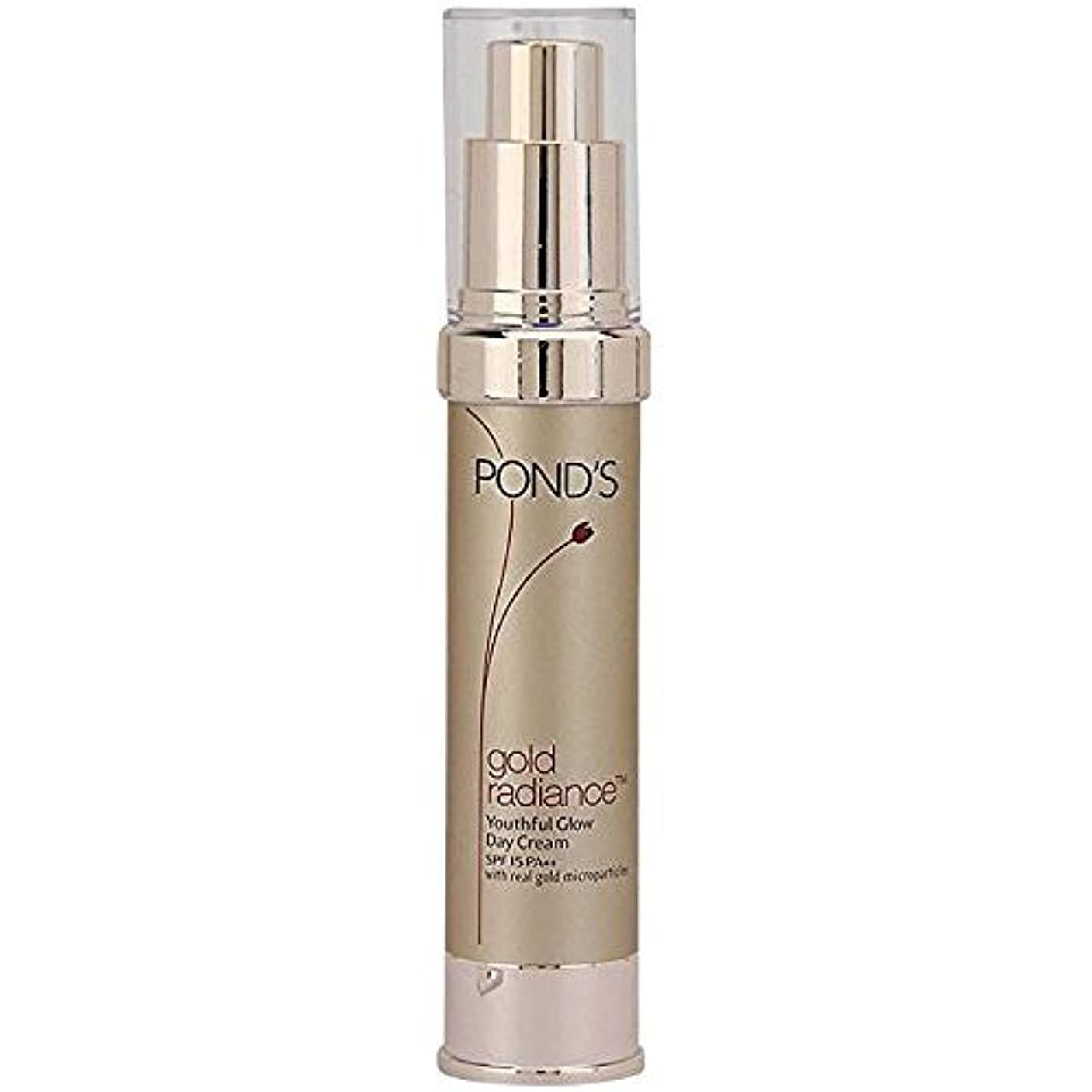 コース貢献する控えめなPond's Gold Radiance Youthful Glow Day Cream SPF-15 PA++(50 g) - India