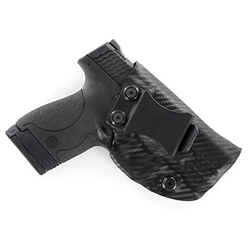 Outlaw Holsters Black Carbon Fiber Kydex Concealment IWB Holster (Right-Hand, for Kahr CW45)