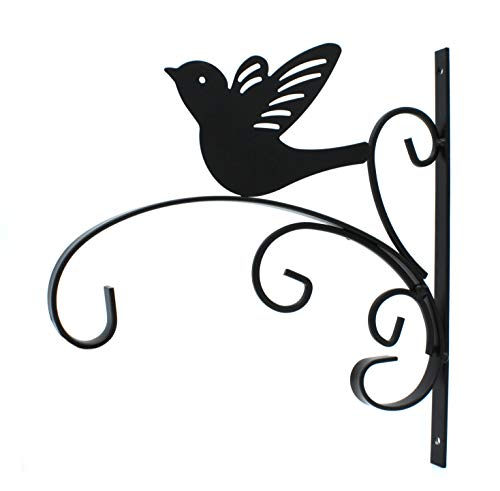 DARO DEKO Metall Wandhaken schwarz Vogel 27,5 x 30cm 1 Stück