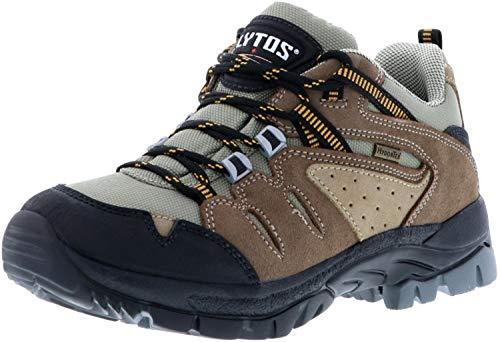 LYTOS Damen Herren Wanderschuhe Outdoorschuhe Trekkingschuhe braun, Größe:41;Farbe:Braun