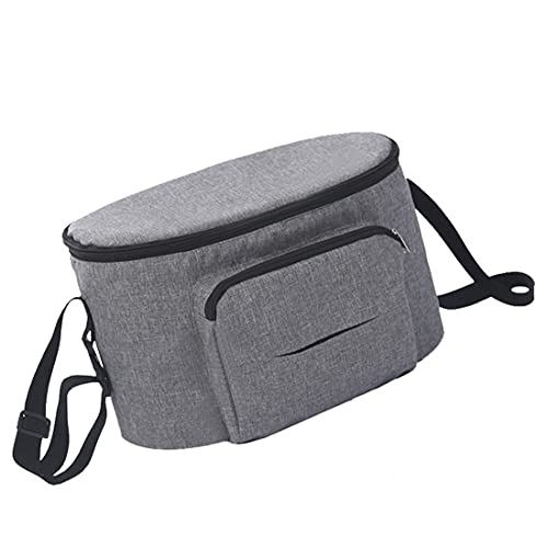 Baby Stroller Bag Mini Diaper Bag, Stroller Storage Bag With Cup Holders, Stroller Parent Console, Stroller Storage Pouch With Easy Access Wipes Pocket and Stroller Accessories Bag