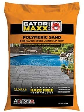 Alliance Gator Maxx Bond, Polymeric Sand.for Concrete Paver Joints up to 2', 50 lb. Bag, (Slate Gray)