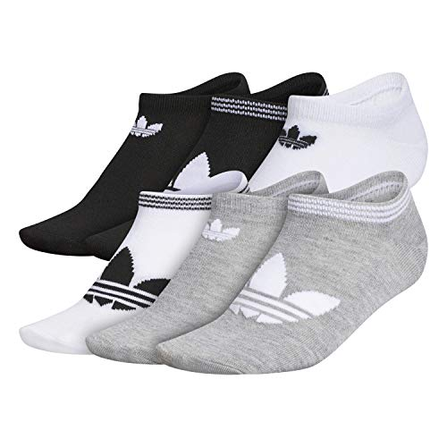 adidas Originals Women's Trefoil Superlite No Show Socks (6-Pair)