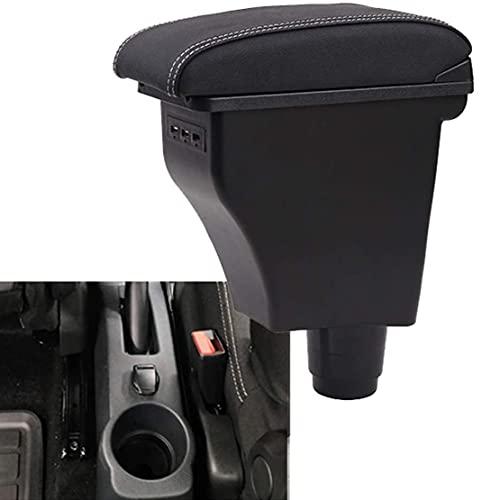 para Renault Logan Coche Apoyabrazos Consola Central Doble Reposabrazos Caja Consolas Almacenamiento Con Puertos USB Accesorios Para Interiores De AutomóViles