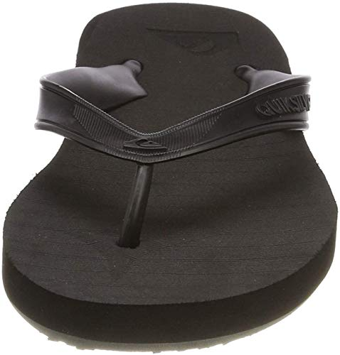Quiksilver Carver Deluxe, Zapatos de Playa y Piscina para Hombre, Negro (Black/Black/Brown Xkkc), 40 EU