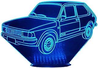 FIAT 147C, Lampada illusione 3D con LED - 7 colori.