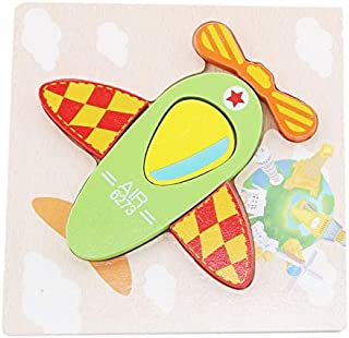 Puzzles - Three-Dimensional Wooden Puzzles Baby Colorful Cartoon Fun Toys Game Baby Lighting supplies New Early Educationa...