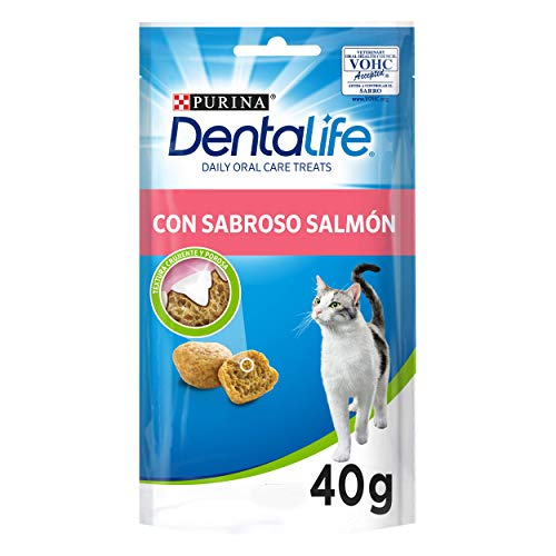 Purina DentaLife Snack Dental para Gato con Sabor a Salmón 8 x 40 g - 1 Pack
