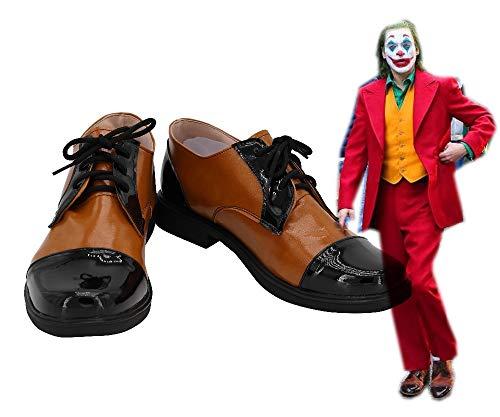 2019 Joker Arthur Fleck Joker Joaquin Phoenix Cosplay zapatos botas Halloween carnaval fiesta Cosplay disfraz Prop 39