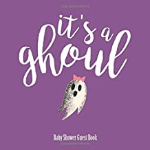 It's a Ghoul, Baby Shower Guest Book: Halloween It's a girl Baby Shower Keepsake Guest Book with Polaroid photo pages and Gift Log: 120 pages