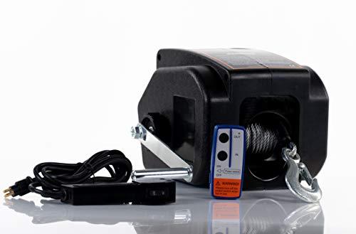 DMS Elektronische Seilwinde 12 V | Motorwinde | Bootswinde | Anhänger | Auto | Funkfernbedienung | Zugkraft von 4990 kg |