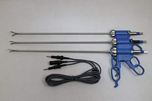 Laparoskopischer Bissinger Bipolar Maryland Fenestrated Robi Greifer mit Kabel, abnehmbare Instrumente, Set 5 mm x 330 mm, 4 Stück