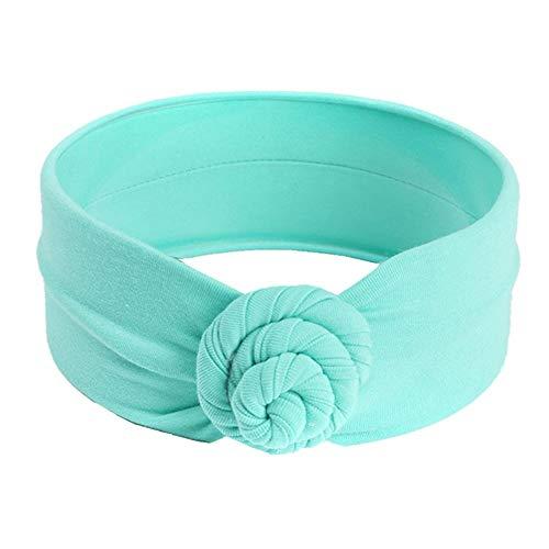 puseky Accessoires pour cheveux bandeau bébé fille cheveux bandeau noeud bandeau Turban (Color : Light Green, Size : One Size)