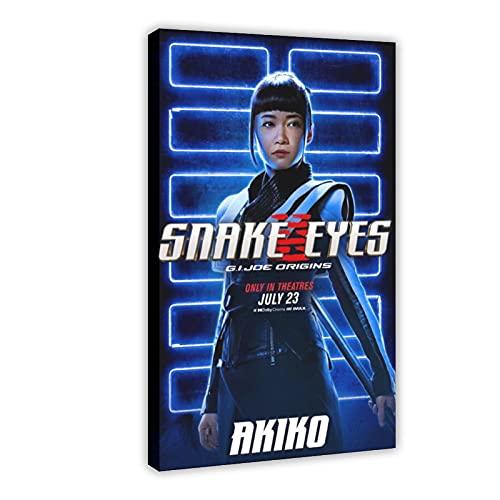 Action Movie Snake Eyes G.I. Joe Origins Poster in tela per camera da letto, sport, paesaggio, ufficio, decorazione regalo, 50 x 75 cm