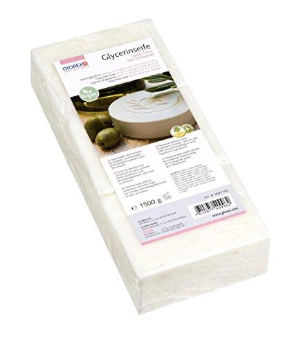 GLOREX 6 1600 152  Glycerin-Seife Öko 1500g mit Olivenöl opak