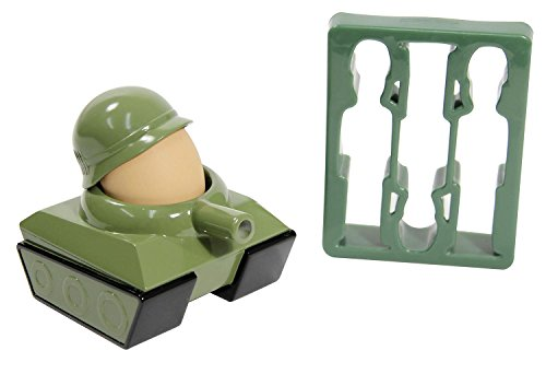 Paladone Eierbecher 2er Set [Egg-Splode] | Eierbecher & Toastschneider aus Kunststoff
