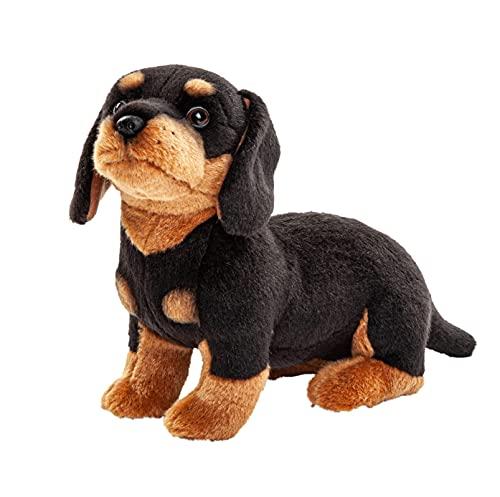 Uni-Toys - Dackel - 27 cm (Länge) - Plüsch-Hund - Plüschtier, Kuscheltier HT-30149 Schwarz, Braun